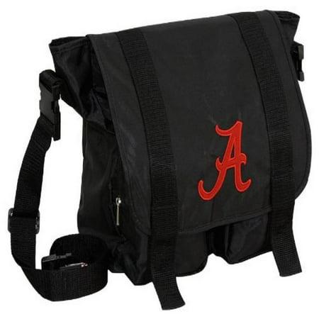 Ncaa 045 Alabama Crimson Tide Black Sitter Diaper Bag