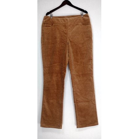 Denim & Co. 16T Stretch Corduroy Straight Leg Pants Brown A305329