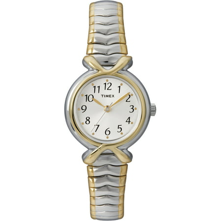 Women's Two-Tone Band Case White Dial Quartz Dress Wrist Watch (Case Two Tone Watch)