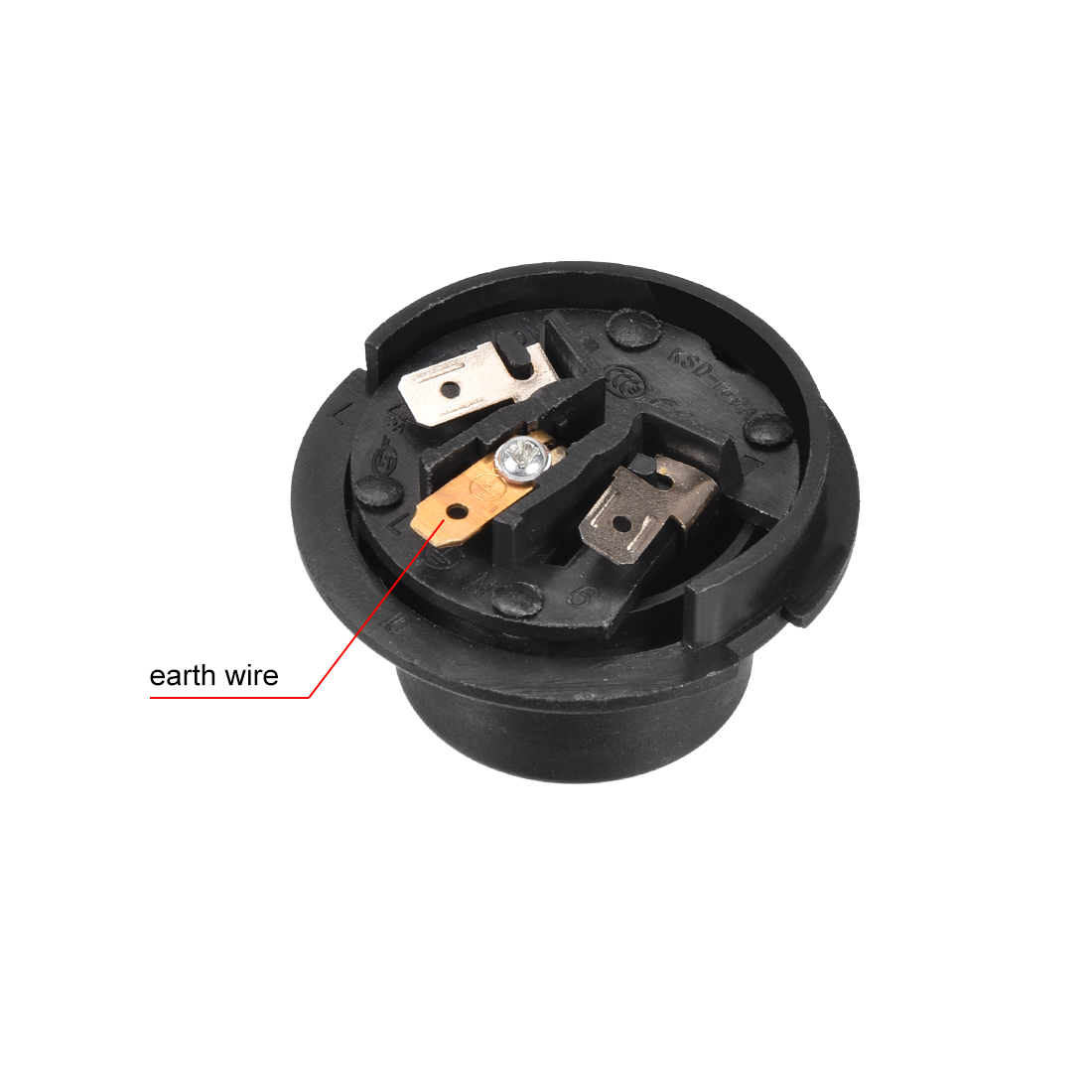 Temperature Control Switch w Terminals Tip Top Base Socket Kettle Thermostat