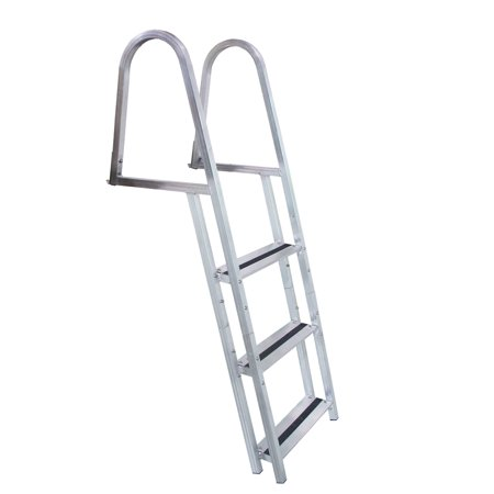 - Dock Edge Welded Aluminum Stand-Off Dock Ladder with Quick Release, 3-Step