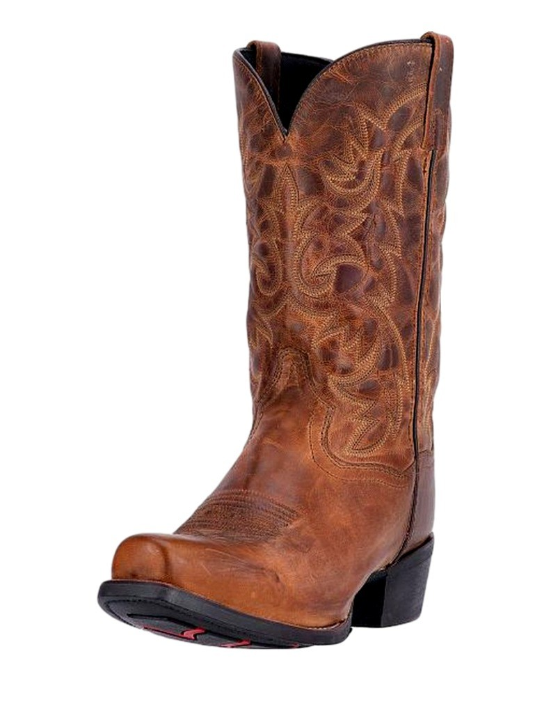 Laredo Western Boot Mens 12 Bryce Cowboy Heel CST Tan Distressed 68442 by Laredo
