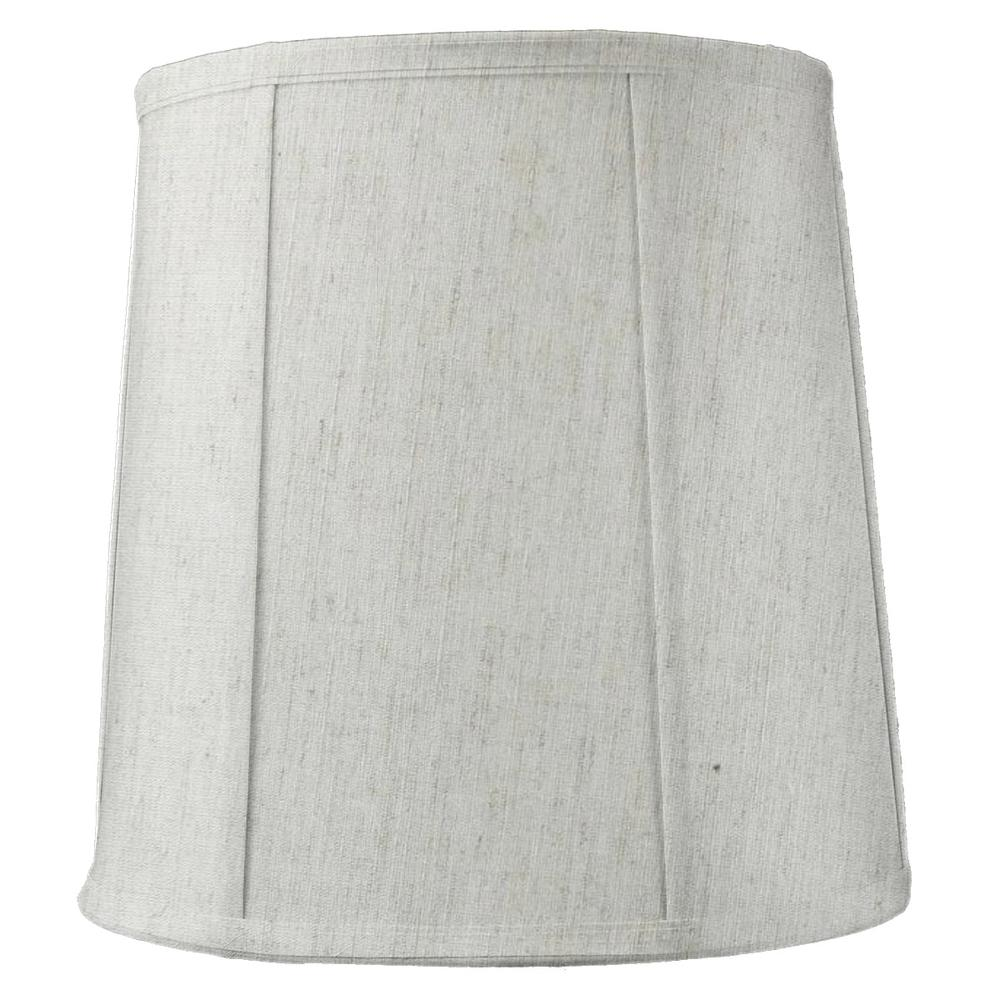 "14""x16""x17"" Tall Drum Lampshade Textured Oatmeal Fabric, Large Softback Cylinder for Tall Table Lamps"