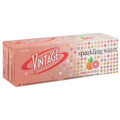 Vintage Pink Grapefruit Sparkling Water, 12 count, 12 fl oz, (Pack of 2)