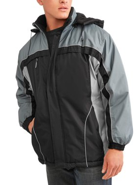 Climate Concepts Men's and Men's Big Polar Tech Fleece Lined Jacket with Removable Hood, up to Size 5XL