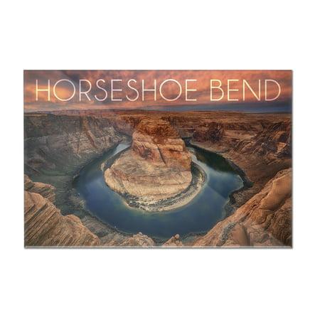 Horseshoe Bend  Arizona   Lantern Press Photography  12X8 Acrylic Wall Art Gallery Quality