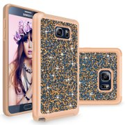 Note 5 Case, Galaxy Note 5 case, Cellularvilla [Slim Fit] Luxury Bling Jewel Rock Crystal Rhinestone Diamond Case [Shockproof] Dual Layer Protective Cover for Samsung Galaxy Note 5