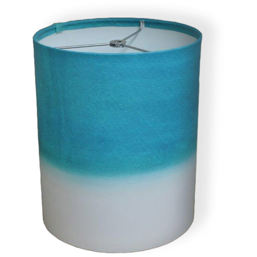 "10"" Drum Lamp Shade, Blue Blue Watercolor"