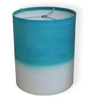 "10"" Drum Lamp Shade, Blue Blue Watercolor"