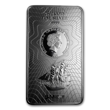 2017 250 gram Silver Cook Islands Bounty Coin Bar (.9999 Fine) Cook Islands Gold Coin