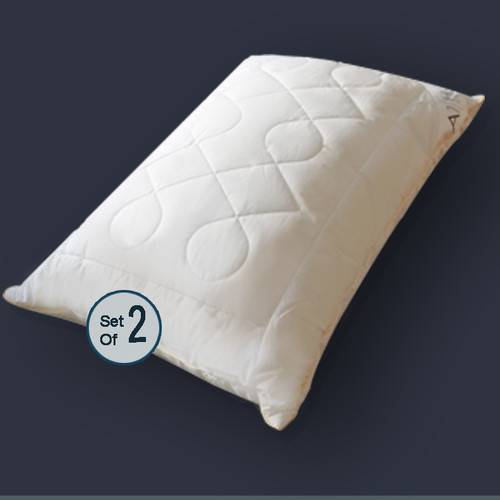 A1 Home Collections LLC Diamond Chain Microfiber Queen Pillow (Set of 2)