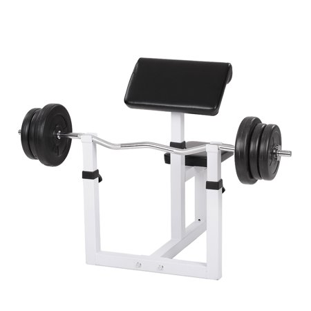 Ktaxon Commercial Preacher Curl Weight Bench, Seated Preacher Isolated Arms Barbell Dumbbell Biceps, 48
