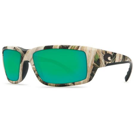 Costa Del Mar TF Fantail Mossy Oak Square Sunglasses Green Lens 400G