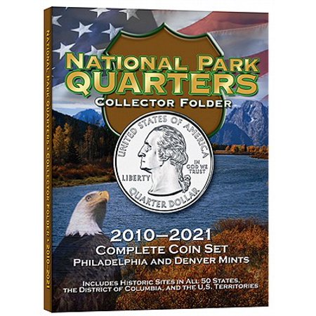 National Park Quarters Collector Folder : 2010-2021 Complete Coin Set, Philadelphia and Denver Mints ()