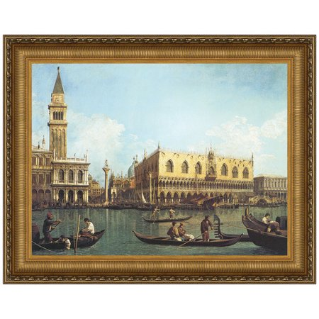 - Design Toscano View of the Bacino di San Marco, St. Mark's Basin, 1730 - 1735 by Antonio Canaletto Framed Painting Print