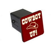 """Cowboy Up - Hat 2"""" Tow Trailer Hitch Cover Plug Insert"""