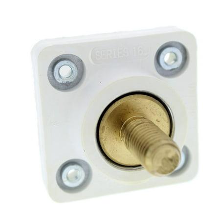 Leviton White Cam Plug Panel Receptacle 1.125'' Threaded Stud 16 Series (1.125 Cam)