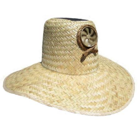 Kool Breeze Solar Cooling Straw Hat - Plain Gardener (M/L) (Straw Hat Oriental)