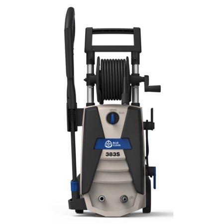 AR Blue Clean 1800 PSI Electric Pressure Washer, Spray Gun, Hi-Lo Spray Lance Nozzle, 20 Foot High-Pressure Soft PU Hose, 35 Foot Power Cord, 28 oz Detergent Tank, Garden Hose adapter, AR383S