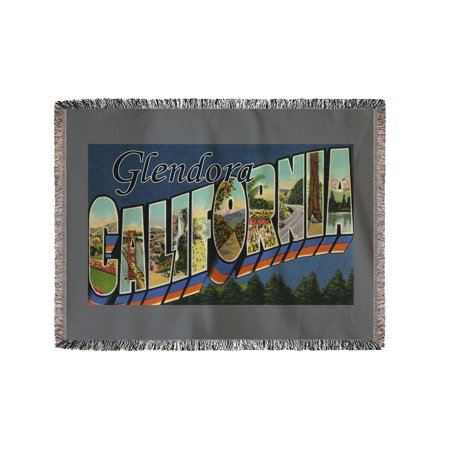 Greetings from Glendora, California (60x80 Woven Chenille Yarn Blanket)](Halloween Glendora)
