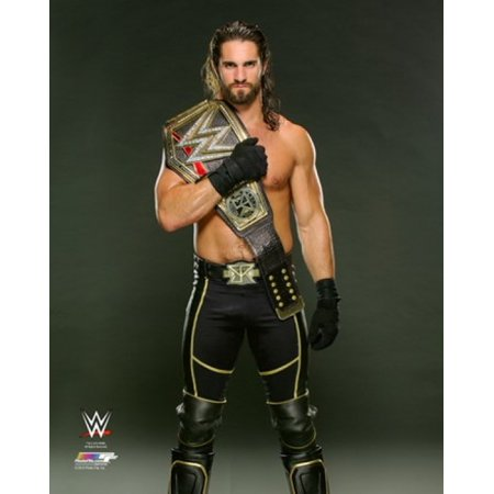 Seth Rollins with the WWE Championship Belt 2015 Sports Photo