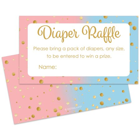 Baby Gender Reveal Cake Ideas (Gender Reveal Diaper Raffle Tickets, 25ct - Baby Gender Reveal Party Games Supplies Diaper Raffle Cards - 25)