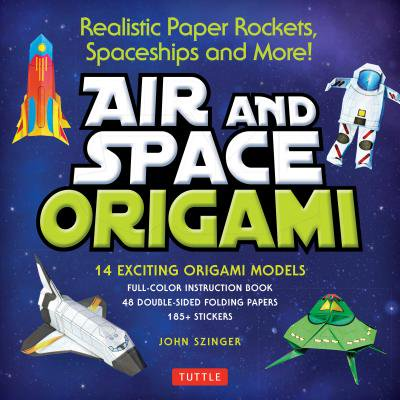 Air and Space Origami Kit : Paper Rockets, Airplanes, Spaceships and More! [Kit with Origami Book, Folding Papers, 185+ Stickers] - Rocket Bunny Sticker