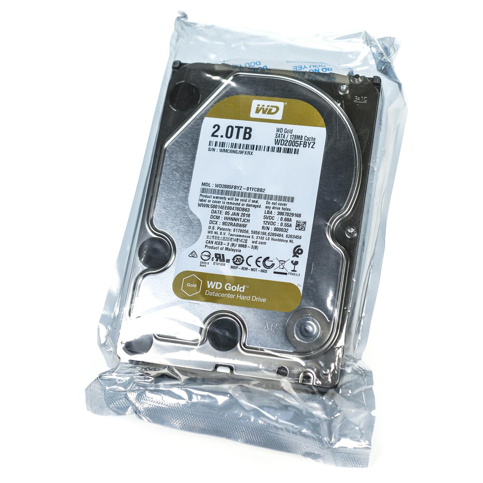 """NEW Western Digital GOLD WD2005FBYZ 3.5"""" 2TB 7200RPM SATA 6Gbps 128MB Internal Hard Drive"""