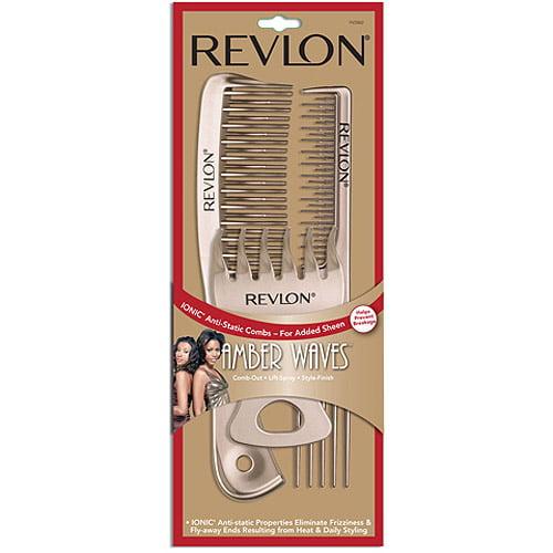 RV2882 Revlon Amber Waves Short Hair Styling Combs 3 Pack