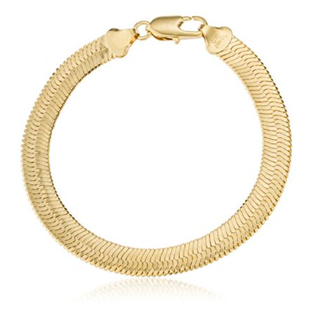 Two year warranty mens 39 s gold overlay herringbone necklace for Jh jewelry guarantee 2 years