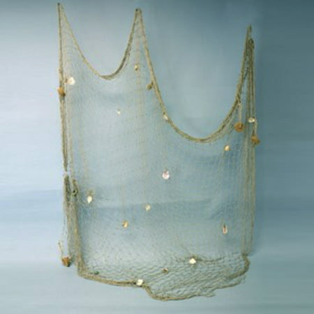 New 5x10 Decorative Fish Netting with Sea Shells Nautical Fishing Net Luau Decor](Fish Netting)