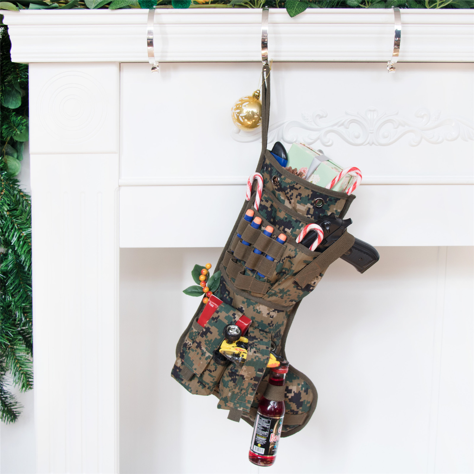 Tactical Christmas Stocking Stuffed.19 Tactical Christmas Stocking Military Christmas Stocking Personalized Camouflage Stocking Multicam