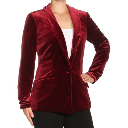 - INC Womens Burgundy Corduroy Blazer Wear To Work Jacket  Size: XXL