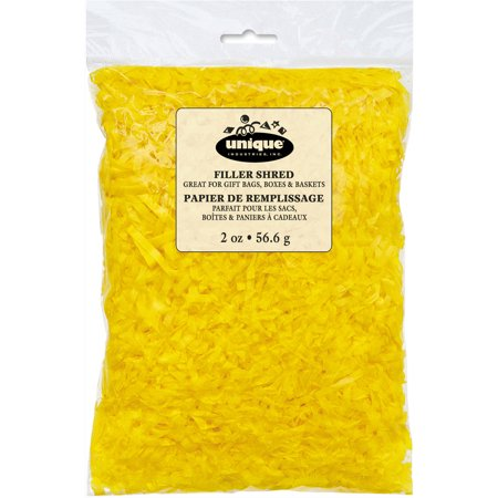 Yellow Crinkle Paper Shred Filler, 2oz - Paper Easter Grass