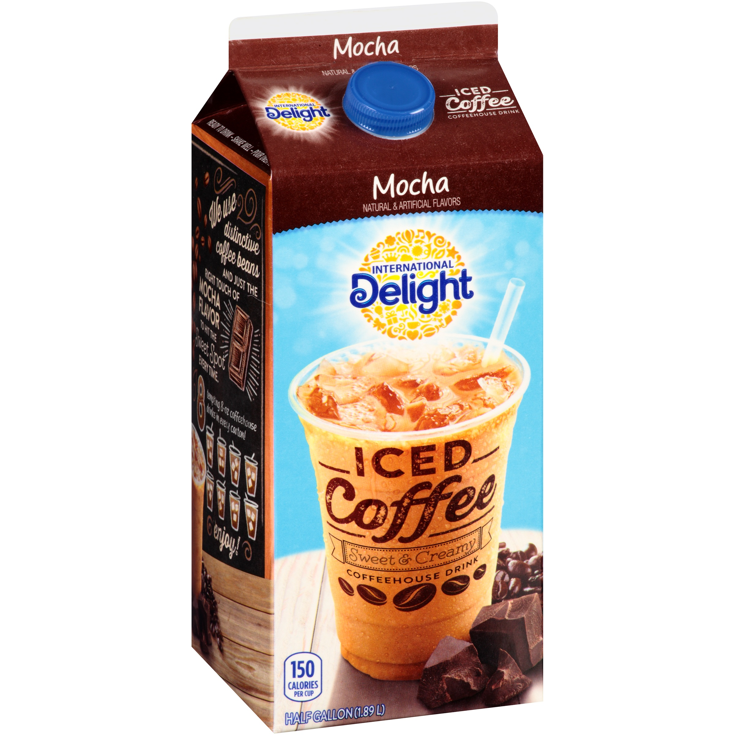 International Delight Mocha Iced Coffee, 0.5 gal