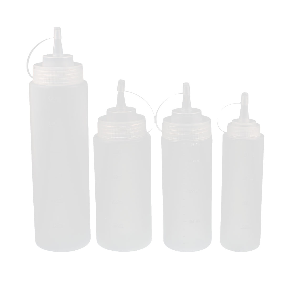 200ml 360ml 400ml 500ml 600ml Plastic Food Squeeze Bottles Condiment Ketchup Kit by