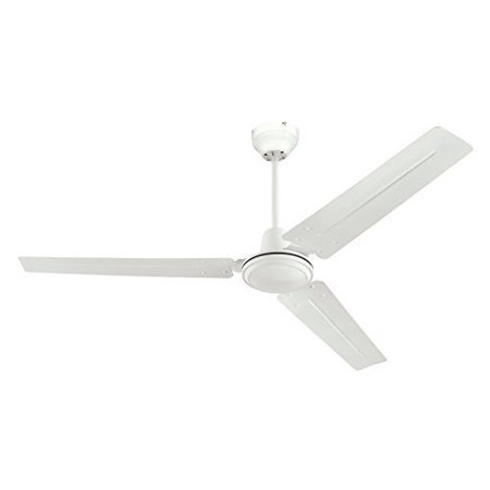 Ciata Lighting 7812700 56 Inch Three Blade Ceiling Fan With Ball Hanger Installation System White 2 Pack