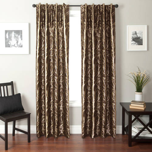 Softline Catara Tree Back Tab and Rod Pocket Curtain Panel