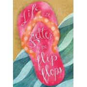 """Life is Better in Flip Flops Summer Garden Flag Beach Nautical 12.5"""" x 18"""""""