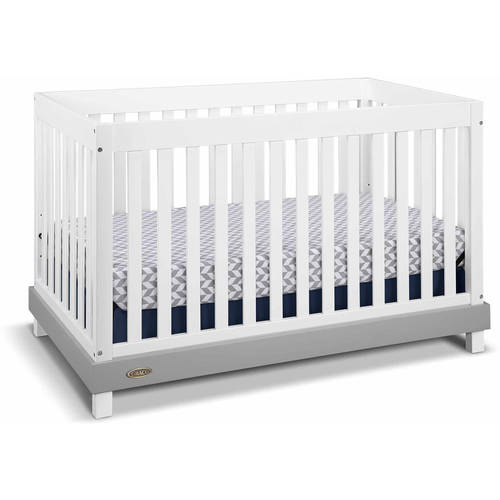 Graco Maddox 4 in 1 Convertible Crib White/Gray