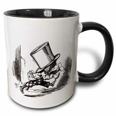 3dRose Alice in Wonderland Mad Hatter, Two Tone Black Mug, 11oz](Mad Hatter And Alice In Wonderland)