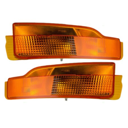 Driver and Passenger Park Signal Side Marker Lights Lamps Replacement for Pontiac 5976769 5976770 86 Lamp Side Park Car