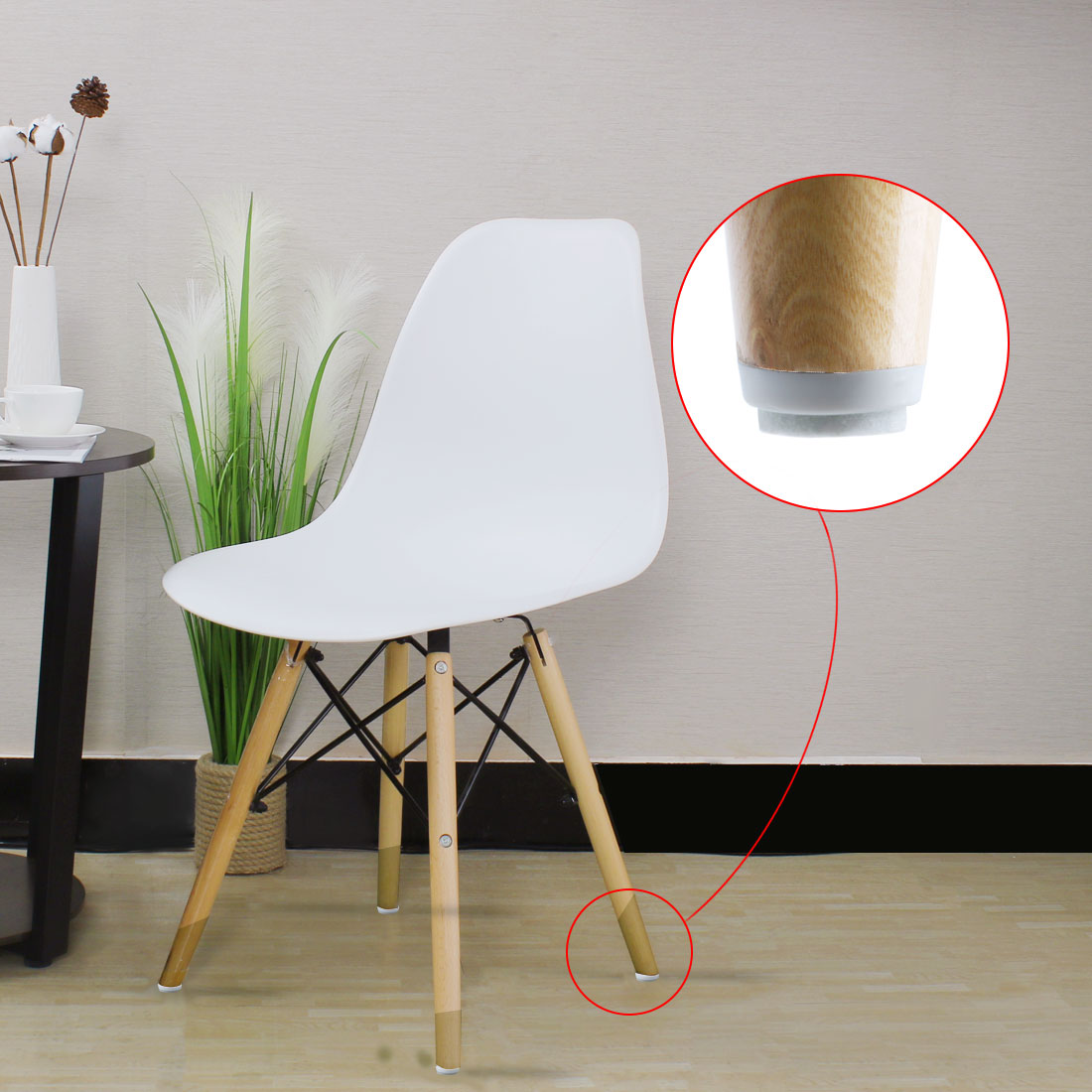 "18pcs Nail on Felt Pads for Furniture Chair Leg 3/4"" 18mm Dia Floor Protector - image 3 de 7"