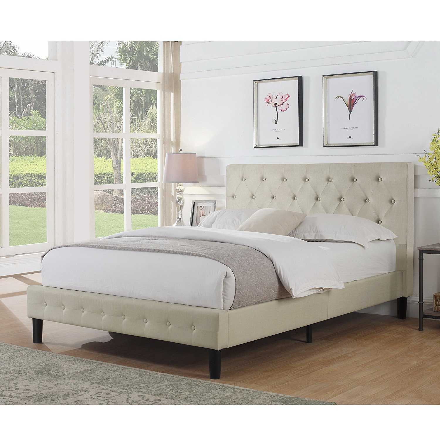 Alton Furniture Alfonso Tufted Upholstered Panel/Platform Bed