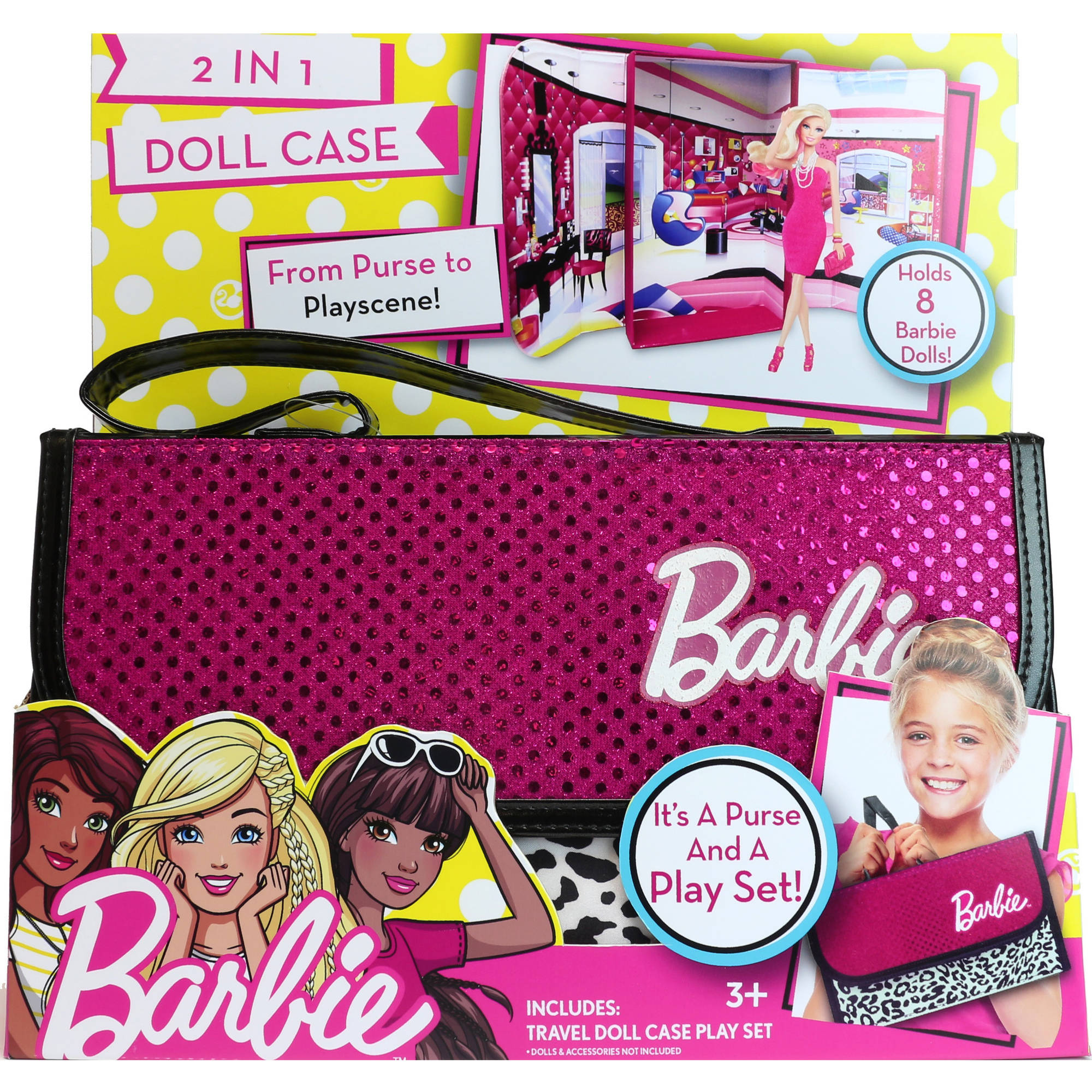 Barbie 2 In 1 Doll Case by Tara Toy Corporation