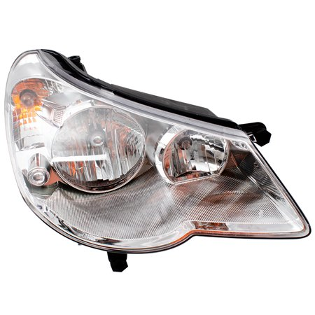 BROCK Combination Headlight Headlamp Type 1 Passenger Replacement for 07-10 Chrysler Sebring 5303746AE 01 Chrysler Sebring Headlight