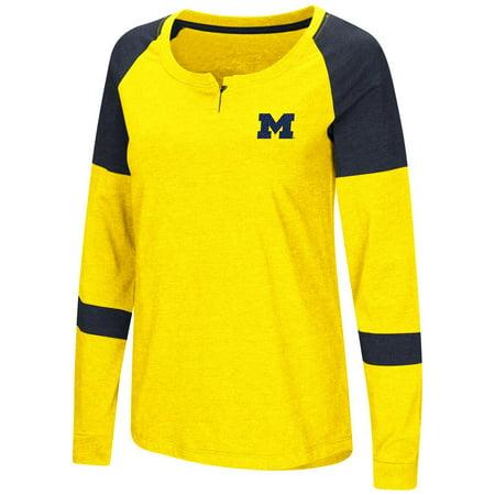 University of Michigan Wolverines Ladies Long Sleeve Raglan Dorothy Tee