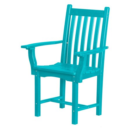 WILDRIDGE Classic Recycled Plastic Patio Dining Arm Chair ()