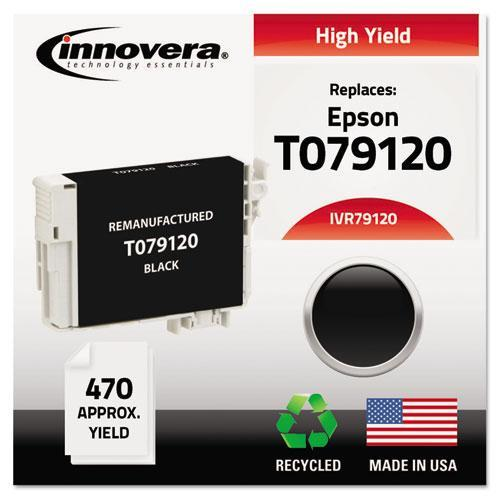 Innovera Remanufactured High-Yield T079120 (79) Ink, 470 Page-Yield, Black -IVR79120