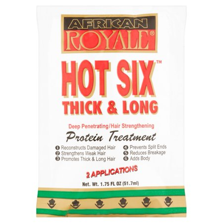 African Royale Hot Six Thick   Long Deep Penetrating Hair Strengthening Protein Treatment